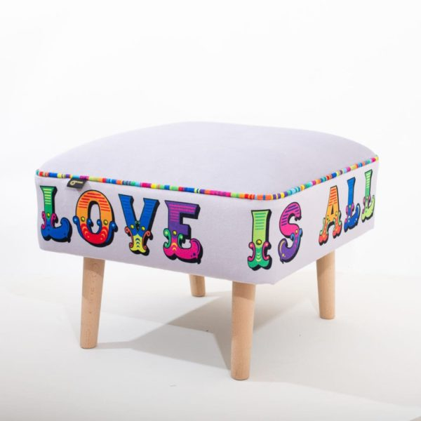 All You Need Is Love Slogan Stool