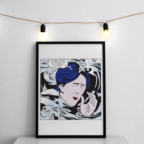Drowning Ryder - LIchtenstein Inspired Happy Mondays tribute A3 art print
